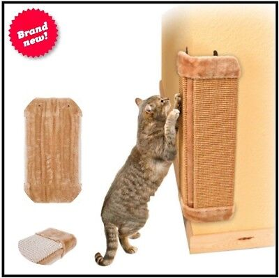 Corner Cat Scratcher Sisal Wall Pet Kitten Hanging Cat Scratching Post Board New