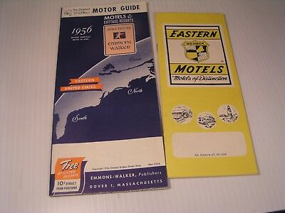 1956 Motor Guide and Map by Emmons Walker Canada to Florida. and Eastern Motels