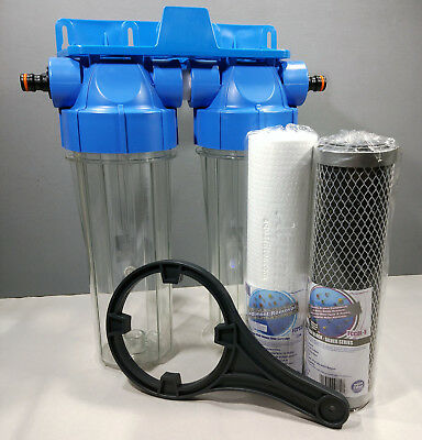 2 Stage HMA High Flow Water Filter KOI Pond Dechlorinator Chlorine Removal