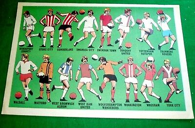 Tiger 1976  Football Club Colours  Stockport To York   16 Club Strips In Colour