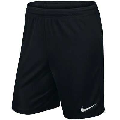 Nike Park II Knit Dri-Fit Junior Unisex Football  Gym Sports Soft Shorts - Black