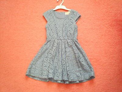 """Girls """"Marks & Spencer"""" Blue Lace Effect Traditional Dress for Age 7-8 years"""