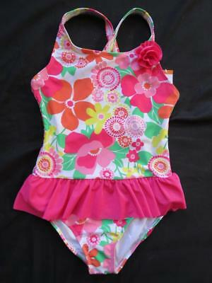 NWT Gymboree L 10 12 Sunny Day Floral Flowers One Piece Swimsuit Bathing Suit