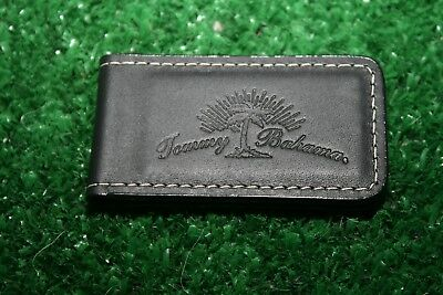 Tommy Bahama Black Leather Money Clip Magnetic Closure