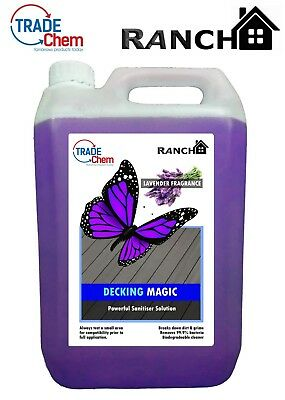 DECKING MAGIC - Decking Cleaner - Reviver - Anti-Bacterial Solution LAVENDER