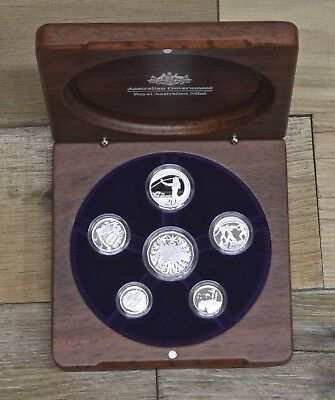 2007 Royal Australian Mint Fine Silver Proof Set, Original Government Packaging