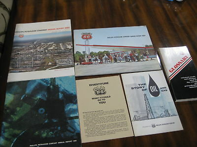 6 Vtg Phillips 66 literature pieces-annual rep 60 64 68 misc others