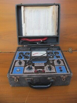 Vintage Radio City Products NY Tube & Set Tester Model 802 W/accessories
