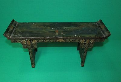 Old or Antique Miniature Chinese Lacquer Alter Table Marked China