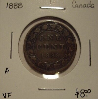 A Canada Victoria 1888 Large Cent - VF