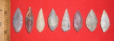 (8) Select Smaller Sahara Neo/Mesolithic Blades,  Prehistoric African Artifacts