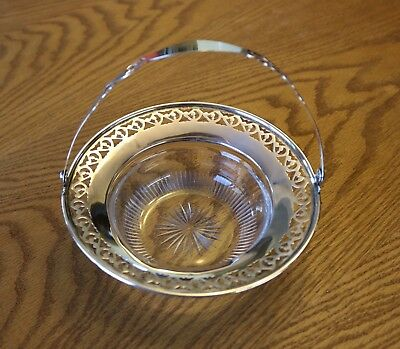 Sterling Silver pierced candy dish basket with handle Birmingham?