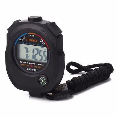 New Digital Professional Handheld LCD Chronograph Sports Stopwatch Stop Watch