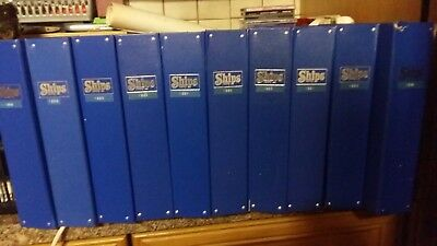 10 FOLDERS, 114 ISSUES OF SHIP MONTHLY MAGAZINE-see photos for years