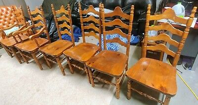 S.Bent Brothers Ladderback Kitchen Chairs