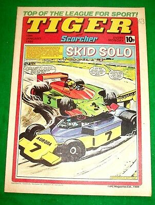 Tiger Comic  19/1/1980 With  Fulham F.c. Team  Colour Centrefold Poster