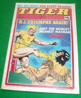 Tiger Comic 25/10/1980 With Stunning Middlesbrough Team Colour Centrefold Poster
