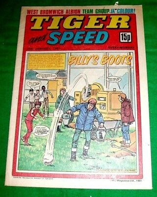 Tiger Comic 1981 With Super  West Bromwich Albion  Colour Centrefold Team Poster
