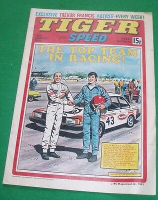 Tiger Comic 28/3/1981 With Stunning Bristol Rovers Team Colour Centrefold Poster