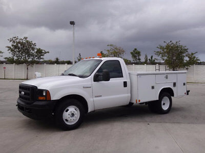 Ford Super Duty F-350 DRW Cab-Chassis Service Utility Body 2006 Ford F350 DRW Service Utility Body 6.0L Diesel 1 Owner FL City Fleet Truck