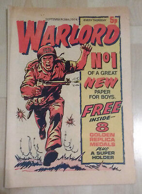 WARLORD comic No 1 (Sept 28th 1974) good condition issue British boys battle mag