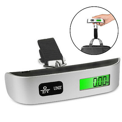 Digital LCD Handheld Luggage Baggage Weight Scale Thermometer New Useful Up