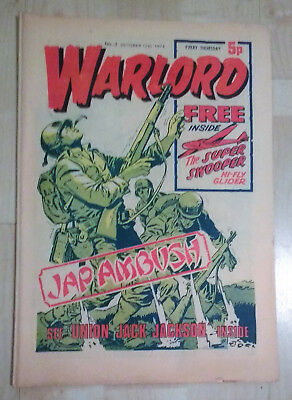 WARLORD comic No 3 (Oct 12th 1974) good condition issue British boys FREE P&P