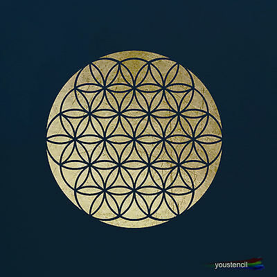 Flower Of Life Stencil Template : Scrapbooking, Airbrushing, Art:  ST24A4