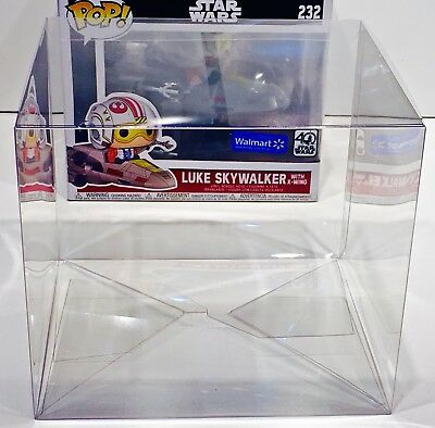 1 Box Protector For FUNKO POP! LUKE SKYWALKER WITH X-WING  Star Wars Case New