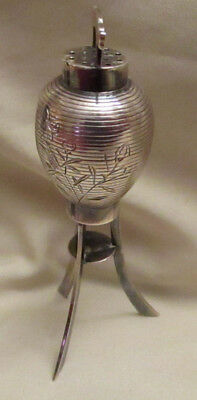 925 Silver Japanese Lantern Single Salt & Pepper Shaker Vintage