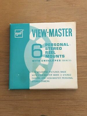 Vintage Sawyer's View-Master GAF Personal Stereo Reel Mounts 6 Mint in Package