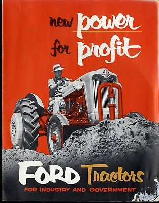 Ford 650 & 850 Tractor New Power for Profit Brochure Ford Tractors 1955