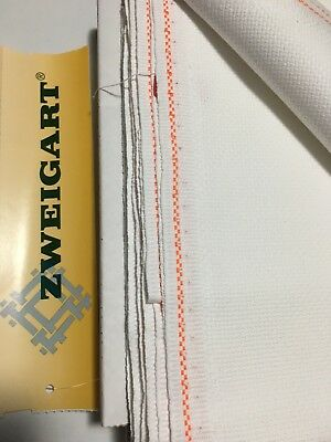 18ct - 18 count Zweigart Antique White Aida Cloth - Assorted Pre-cut sizes only