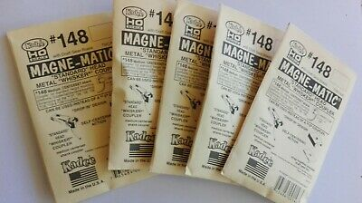 5 Packets Kadee HO #148 couplers (4 per packet ) whisker metal /spring