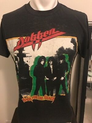 VTG 1987 Dokken Back for the Attack Concert Tee-L