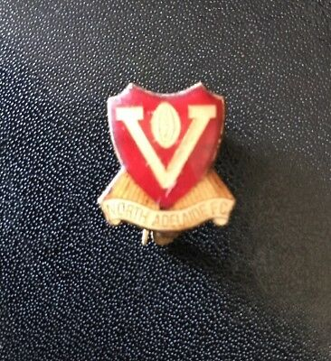 NORTH ADELAIDE FOOTBALL CLUB ROOSTERS 1975 Enamel Members Pin Badge SANFL