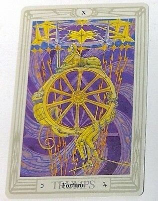 Fortune X Trumps single tarot card Crowley Large Thoth Tarot 1996 AGM Agmuller