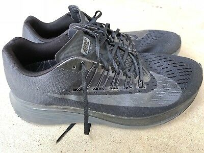 Nike Zoom Fly Triple Black Anthracite Running Shoes 880848-003 Mens 11.5