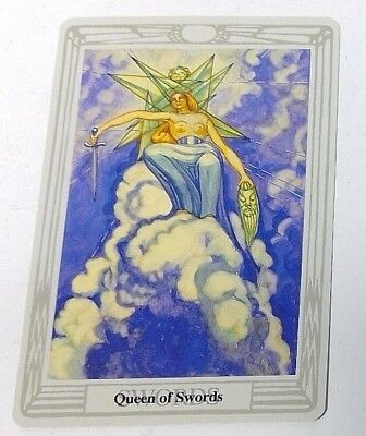 Queen of Swords single tarot card Crowley Large Thoth Tarot 1996 AGM Agmuller