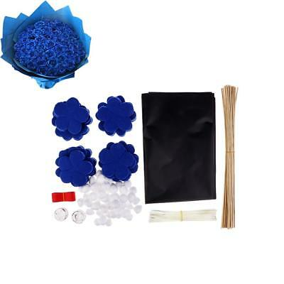 Blue Flowers Kid Toy Home Ornament Decor Non Woven DIY Felt Material Package