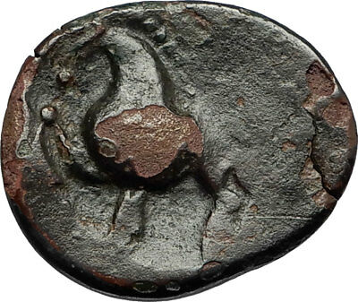 200-100BC Ancient CELTIC Tribe of Europe Style like Greek Coin ZEUS HORSE i67776