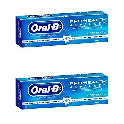 2 X Oral-B Pro-Health Advanced Deep Clean Toothpaste 110g