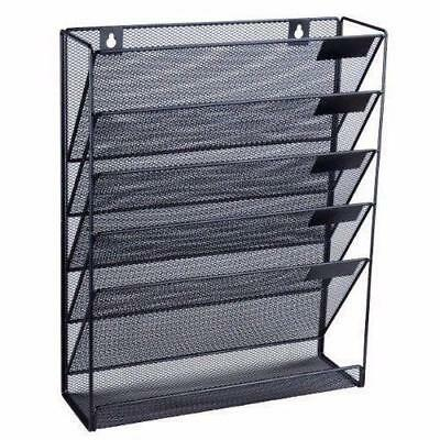 Charming Wall Mounted File Holder Mesh Office Organizer Document A4 Paper Rack  Storage