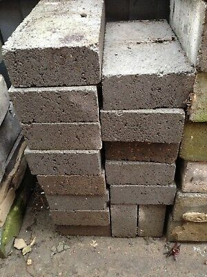71 Concrete Breeze Blocks 25 in decent  condition from recent build.