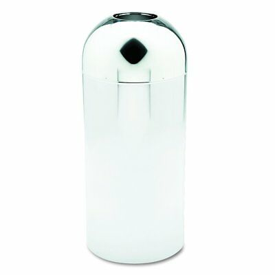 Safco Products 9875 Reflections By Safco Open Top Dome Trash Can, 15-Gallon,
