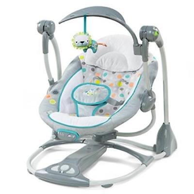 Ingenuity Baby Swing-2-Seat Infant Cradle Rocker Chair Portable Toddler Easy Sto