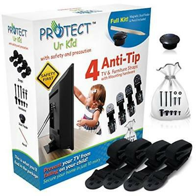Flat-Screen-Tv-Amp-Furniture-Anti-Tip-Safety-Wall-Anchor-Straps-Earthquake-Safe