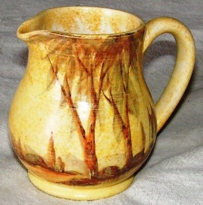 Lovely Vintage Radford Hand Painted Jug With Houses And Trees Design