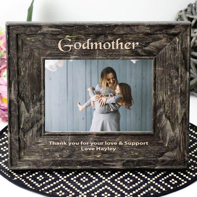 Personalised Godmother 7x5 Engraved Photo Frame - Add a Name & Message