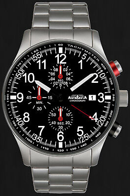 ASTROAVIA AIR CRAFT No.3E - 6 ZEIGER PROFI CHRONOGRAPH FLIEGERUHR NEU